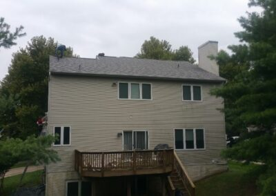 American Choice Exteriors, Gaithersburg MD - Back of Roof Installation